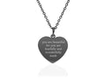 Dainty Inspirational Heart Necklace By Pink Box