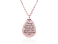 Dainty Inspirational Teardrop Necklace By Pink Box