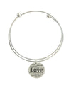 Solid Stainless Steel Double Layer Inspirational Bangle