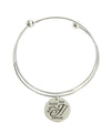 Double Layer Initial Bangle by Pink Box