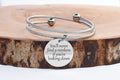 Double Layer Inspirational Cable Bangle With Ball Tip By Pink Box