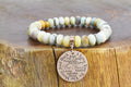Genuine I Love You to the Moon Oval Gemstone Bracelet in Gold by Pink Box