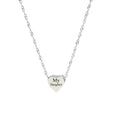 Dainty Heart Slider Charm Necklace by Pink Box