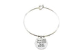 Pink Box Solid Stainless Steel Inspirational Heart Bangle