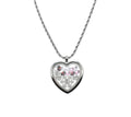 Snowflake Initial Heart Locket With High Grade Cubic Zirconia By Pink Box