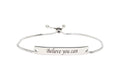 Fully Adjustable Inspirational Slider Bracelet by Pink Box
