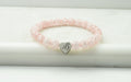 Crystal Initial Stretch Bracelet By Pink Box