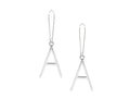 Initial Cutout Drop Earrings by Pink Box