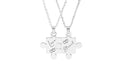 Solid Stainless Steel Puzzle Necklace Set By Pink Box