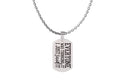 Snarky Stainless Steel Tag Necklace By Pink Box - Chain Length 18 to 36 Inches