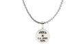 Proud Service Family Round Tag Necklace - Multiple Chain Lengths Available