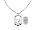 Stainless Steel Scripture Tag Lockets With High Grade Cubic Zirconia By Pink Box