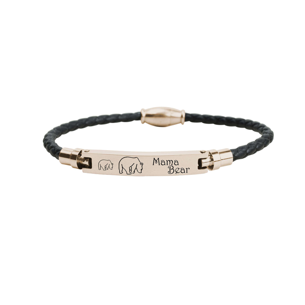 Genuine Magnetic Leather Mama Bracelet by Pink Box