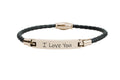 Genuine Magnetic Leather Inspirational Bracelet by Pink Box
