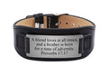 Genuine Leather Scripture Bracelet by Pink Box