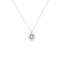 Ladies Beveled Bead Initial Necklace by Pink Box