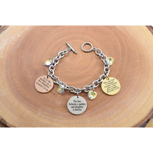 Tri-tone Inspirational Toggle Bracelet Made With Swarovski By Pink Box