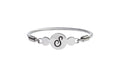 Multi Disc Initial Cable Bangle By Pink Box