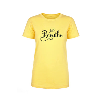 Soft Cotton Blend Inspirational Tee By Pink Box - BREATHE