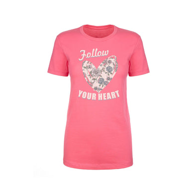 Inspirational Crew Tee by Pink Box - FOLLOW YOUR HEART
