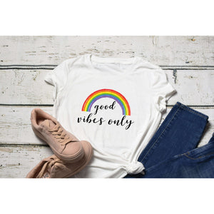 GOOD VIBES ONLY SOFT COTTON BLEND