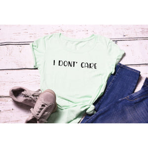 Fun Graphic Tee By Pink Box - I DON'T CARE