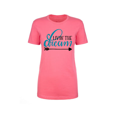 Inspirational Crew Tee by Pink Box - LIVIN THE DREAM