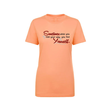 Soft Cotton Blend Inspirational Tee By Pink Box - SOMETIMES