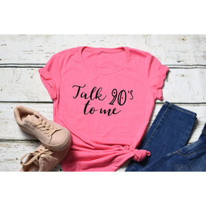 Fun Graphic Tee By Pink Box - TALK 90S TO ME