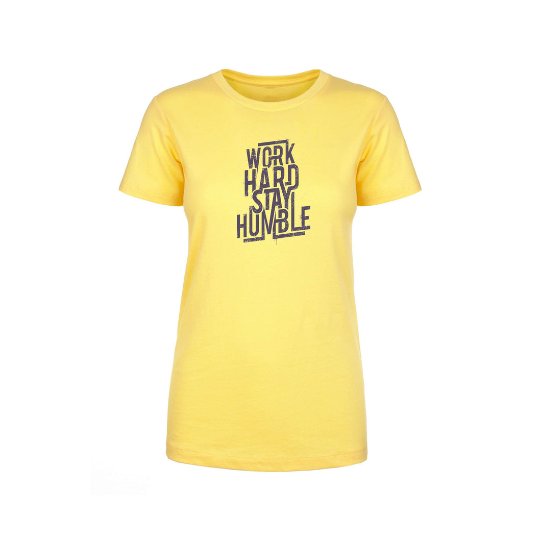 Soft Cotton Blend Inspirational Tee By Pink Box - WORK HARD