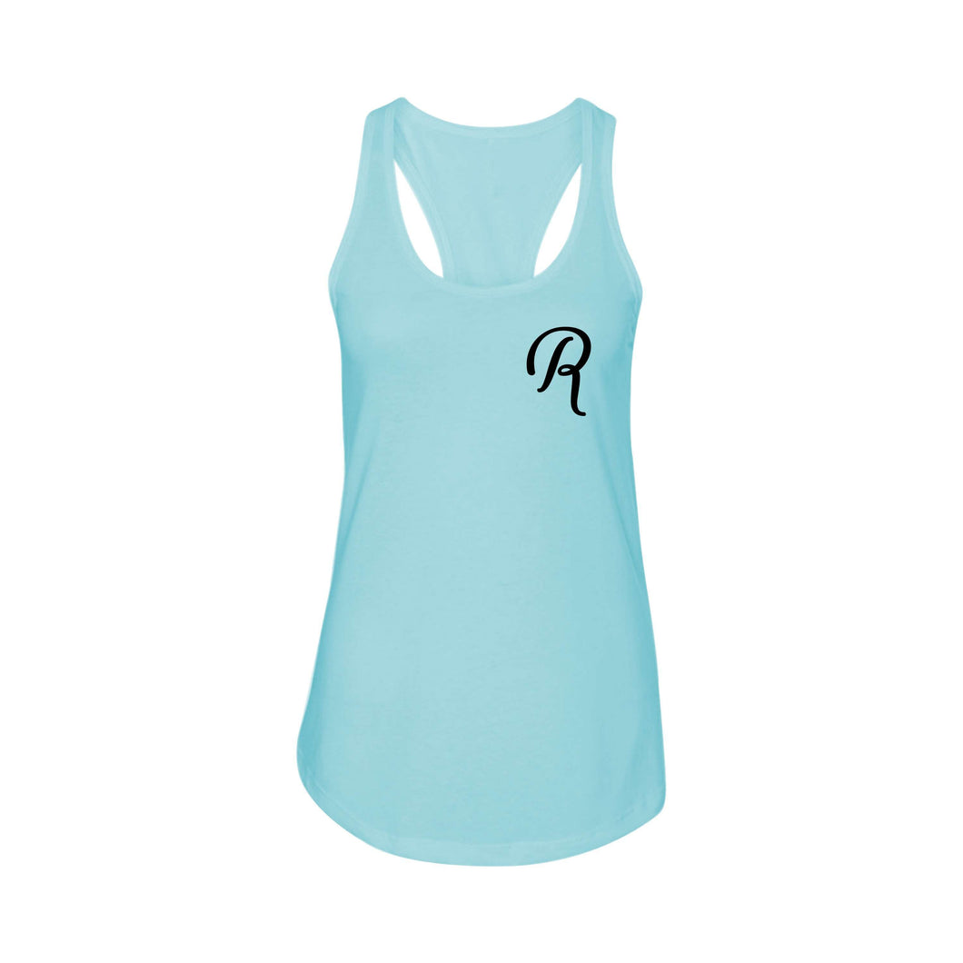 Racerback Initial Tank by Pink Box  - R