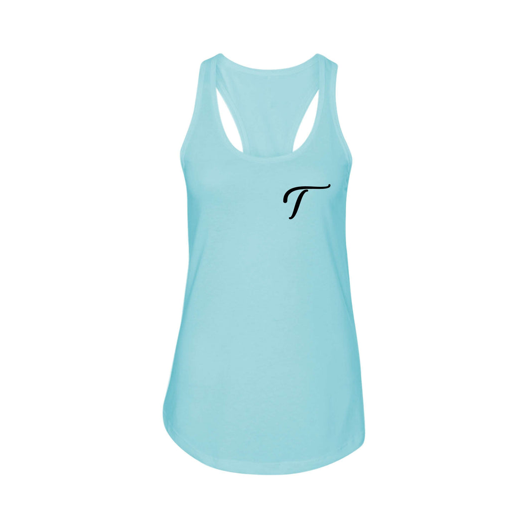 Racerback Initial Tank by Pink Box  - T