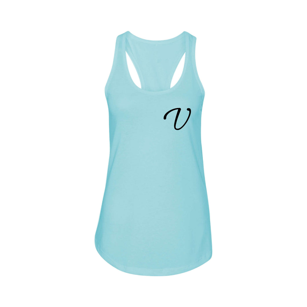 Racerback Initial Tank by Pink Box  - V