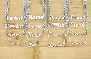 Name Necklace in Stainless Steel By Pink Box - Personalized 1 - 19