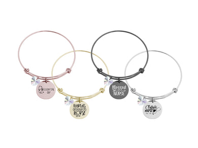 Nurse Appreciation Bracelets Made With Swarovksi By Pink Box