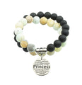 Genuine 10mm Double Layer Gemstone Bracelet by Pink Box