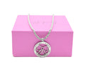 Pink Box Women's Inspirational Rope Necklace