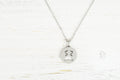 Solid Stainless Steel Round Expression Necklace By Pink Box