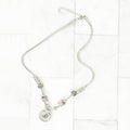 Solid Stainless Steel Rotating Charm Initial Necklace By Pink Box