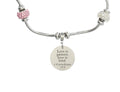 Kids Adjustable Bible Verse Necklace With Cross Charm By Pink Box