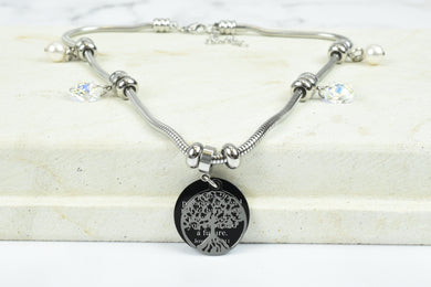 Womens Adjustable Bible Verse Tree Of Life Necklace By Pink Box