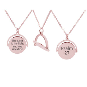 Rotating Disc Scripture Necklace