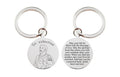 Pink Box Stainless Steel Prayer Keychain