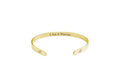 I Am Self Affirmation Cuff Bracelet in Gold