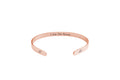 I Am Self Affirmation Cuff Bracelet in Rose Gold