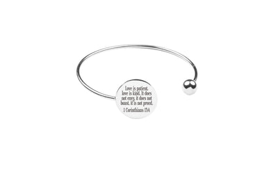 Ball Tip Scripture Cuff by Pink Box