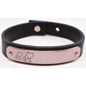 Genuine Mama Leather Bracelet By Pink Box
