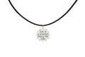 Genuine Round Inspirational Leather Necklace By Pink Box