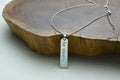Beveled Vertical Bar Inspirational Necklace Made with Swarovski By Pink Box
