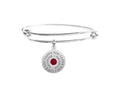 Round Inspirational Bangle Made With Crystals From Swarovski By Pink Box